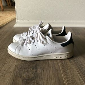 Adidas Stan Smith's with navy accents